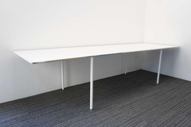 インテリアズ TEE(ティー) ミーティングテーブル アルミバイブレーション W3000 D900 H720