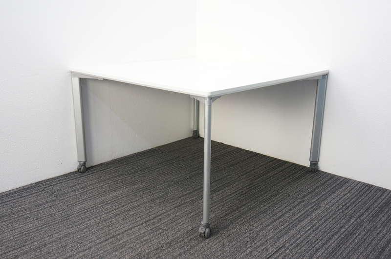 コクヨ ワークソート ミーティングテーブル 1212 キャスター脚 ホワイト