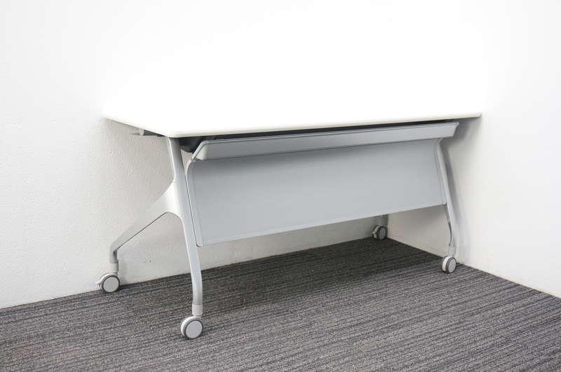 コクヨ エピファイ フラップテーブル 1560 幕板付 網棚付き ホワイト
