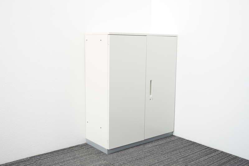 プラス L6 両開き書庫 天板付(ホワイト) W900 D400 H1120